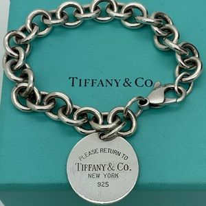 Tiffany & Co.925 Return To Tiffany Bracelet 7 ""